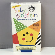Baby Einstein Language Nursery Vhs Video Tape Nearly New Rare Vtg Tested Fast