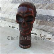 Vintage Style Skull Head Handle Walking Canes For Antique Wooden Sticks Gift