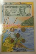 Bahamas Coin And Banknote Folder 5 Unc Coins 1992-2000 And 1 Note 1996 P 57