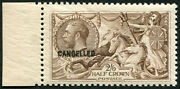 2/6d Sg 415 Ovpt And039cancelledand039 Type 33 U/m Sheet Marginal Superb Fresh. Reddi