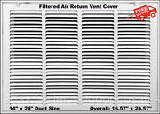 Return Vent Cover 14 X 24 Duct Size White Filtered Air Grille Wall Ceiling