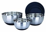 Delland039arte Stainless Steel Mixing Bowl Set Black 6 Pieces