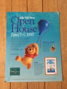 Older Wdcc Winnie The Pooh Rare Disney Store Stand-up Display 14 X 11
