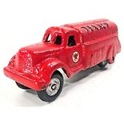 Cyber Distributors Cast Iron Collectible Texaco Oil Tanker Toy Truck