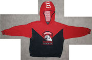 Avirex Tuskegee Airmen Gray Panther Navy Blue Red Knit Hooded Sweater Mens Xxl