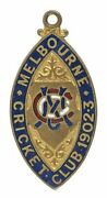 1902-3 Mcc Melbourne Cricket Club Membership Badge Rare And Lovely