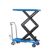Hydraulic Dual Scissor Lift Table Carts Mobile Dolly Hand Truck Eoslift Tad35