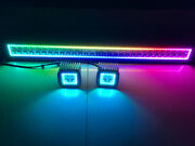 Cree Led Light Bar Combo + 3x3 Pods W/ Rgb Halo Chasing And Bluetooth Wiring Kit