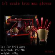 Iron Man 1/1 Wearable Glowing Gloves Childrenand039s Version Of Props Model Toys