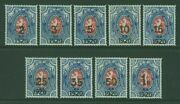 Czechoslovakia Army In Siberia Russia Sg 9-17 1920 Surch. Set Of 9 Mint Unhinged