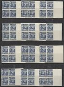 Samoa Huts Sg 153-64 Set 12 Plate Proof Blocks In Blue. Lovely Exhibition Item