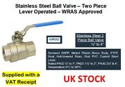 Stainless Steel 316 Lever Ball Valve 2 Piece - Bsp Taper Thread - 1/4 To 4