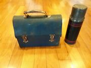 Vintage Metal Lunch Box With Thermos, The American Thermos Bottle Co.