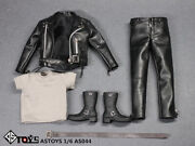 Astoys 1/6 Male Punk Leather Jacket Clothes As044 For 12 Figure Toy