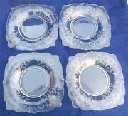 4 Nice Heisey Old Colony Bread And Butter Plates 6.25
