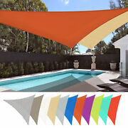2pack 16ft/22ft/28ft Uv Block Triangle Sun Shade Sail Canopy Outdoor Patio Pool