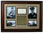 Chuck Yeager Air Force Signed 3x5 Index Card And Photo Collage Framed 156015