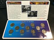 Complete Silver Wartime Jefferson Nickel Set 11 Coins 1942 Ps 1943-1944-1945 Pds