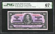 1937 Bank Of Canada 10 Banknote Pmg Unc-67 Epq