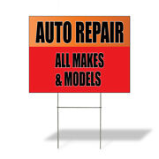 Weatherproof Yard Sign Auto Repair All Makes And Models Red Lawn Garden