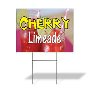 Weatherproof Yard Sign Cherry Limeade Advertising Printing A Red Lawn Garden