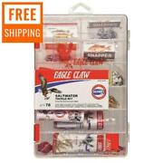 Saltwater Tackle Box Fishing Utility Kit Small Clear