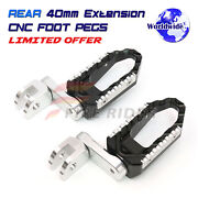 Rear 40mm Riser Touring Cruise Footrest Set For Yamaha Yzf R6 17-19 R1s 15-19