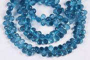 Swiss Blue Topaz Hydro Faceted Side Drill Pack-3 Beads 9 Inch Long