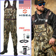 Hisea Hunting And Fishing Waders 200g Insulated Neoprene Pvc Bootfoot Chest Waders