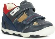 Geox Kids New Balu Trainer Navy/red Size Uk 6 Eu 23