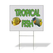 Weatherproof Yard Sign Tropical Fish Business A White Lawn Garden