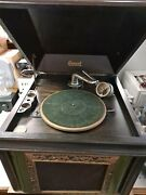 Antique Brunswick Phonograph Record Player Model No. 117 With Hand Crank