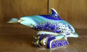 Royal Crown Derby Baby Bottle Nose Dolphin Figurine Paperweight Lyme Edition