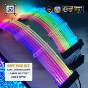Rgb Motherboard Gpu Vga Extension Lighting Cable Wire 24pin Pc Mod 5v3pin