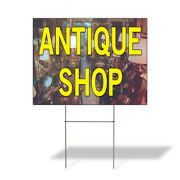 Weatherproof Yard Sign Antique Shop A Outdoor Advertising Printing Lawn Garden