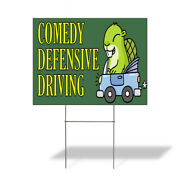 Weatherproof Yard Sign Comedy Defensive Driving Lawn Garden Student Driver