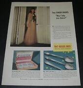 Print Ad 1940 Silverware 1847 Rogers Bros Silverplate Actress Ginger Rogers