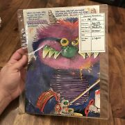 Vtg 80's Amtoy Archives My Pet Monster German Matchbox Double Sided Poster Rare