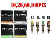 10,20,60,100 Pcs Disposable Sterile Tattoo Needle And Needle Cartridge Rl,rs,m1,rm