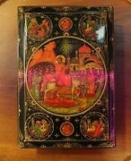 Vintage Antique Original Boxentry Of The Lord Into Jerusalem Ussr Xx Century .