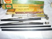 1957 1958 Buick Pontiac Chevrolet Shiny Wiper Arms Blades And Refills Red Dot