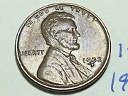 1932-d 1c Bn Lincoln Cent 1491k Wheat Penny Vf - Ef