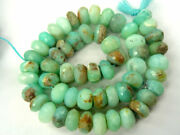Natural Peruvian Blue Opal Faceted Rondelle Gemstone Loose Beads Strand Jewelry