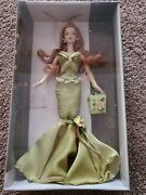 2004 Birthday Wishes Barbie Collector Doll Nrfb Green Dress Red Hair