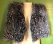 Gorski Real Silver Fox Fur Vest Womenand039s Medium Newman Marcus Coat Jacket