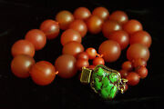 Magnificent Vintage Large Jade Red Carnelian Agate Turquoise Necklace 20 3/4