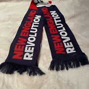 Adidas Mls Soccer New England Revolution 60 Navy Blue/red/white Knitted Scarf