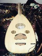 Oud Musical Instrument From Syria New Strings On It And Barcus Berry Pick Up
