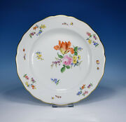 Meissen Flower Bouquet And Insects Dining Plate 9 13/16in 1.wahl