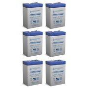 Power-sonic 6v 4.5ah Battery Replaces Power Wizard Pw50s Electric Fence - 6 Pack